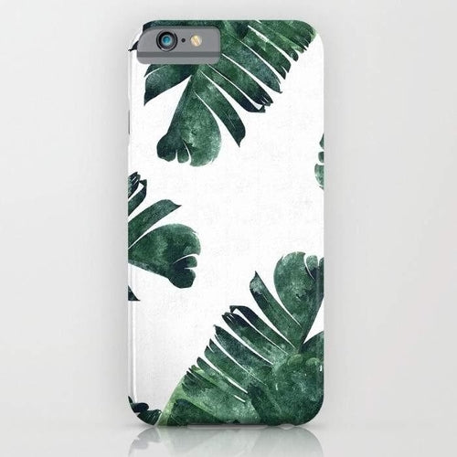 Banana Leaf Watercolor Pattern Mobile Cover