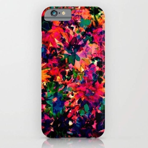 Neon Floral Mobile Cover