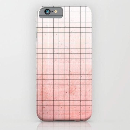 Sweet Pink Geometry Mobile Cover-Mint Noir