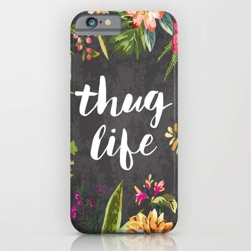 Thug Life Mobile Cover-Mint Noir