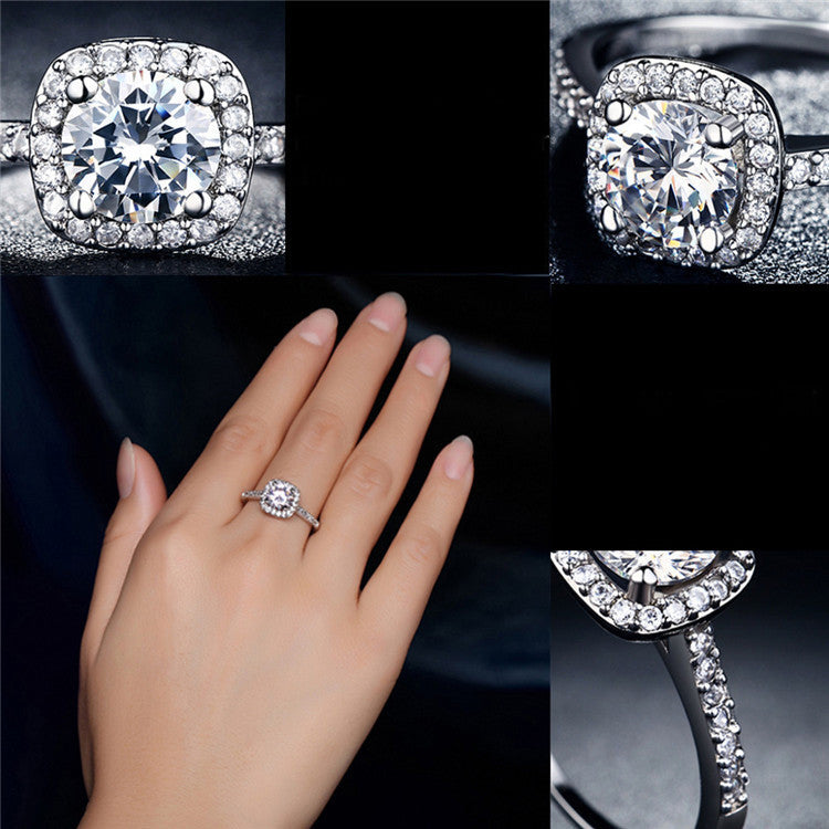 engagement set real pcs plated fashion ring couple gold rings stylish pg wedding rose