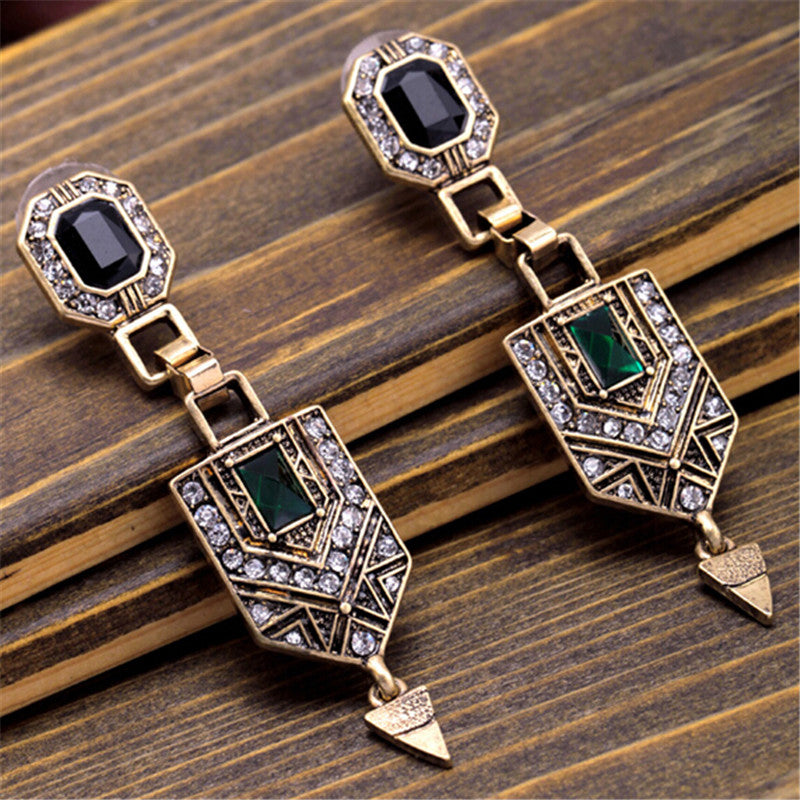 on an en beautiful ethnic embroidered home oval flower earrings pendants