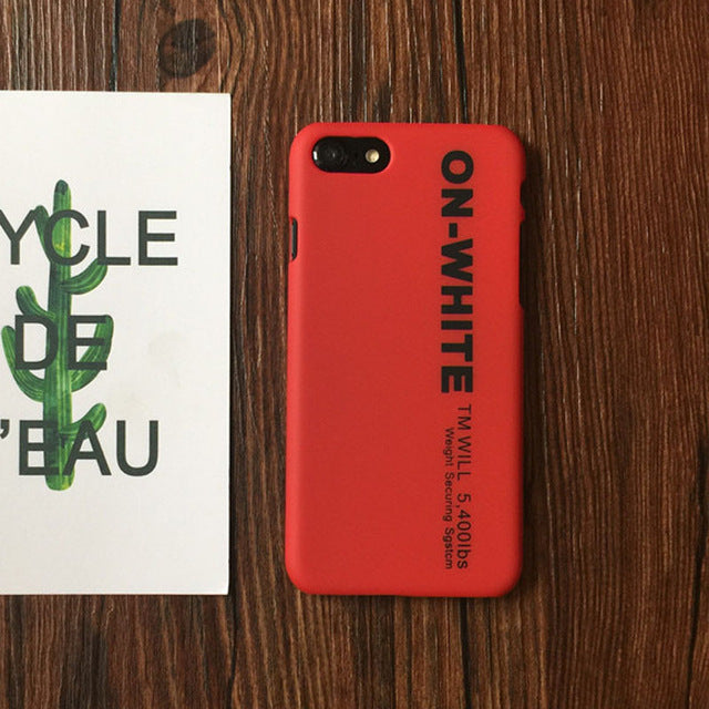 Off White Design iPhone Case