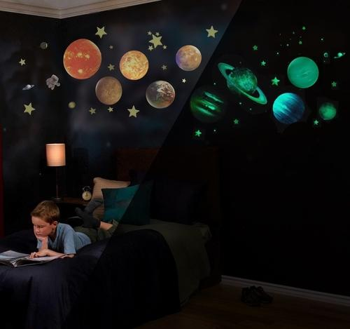 Glow in the Dark Solar System War Decals