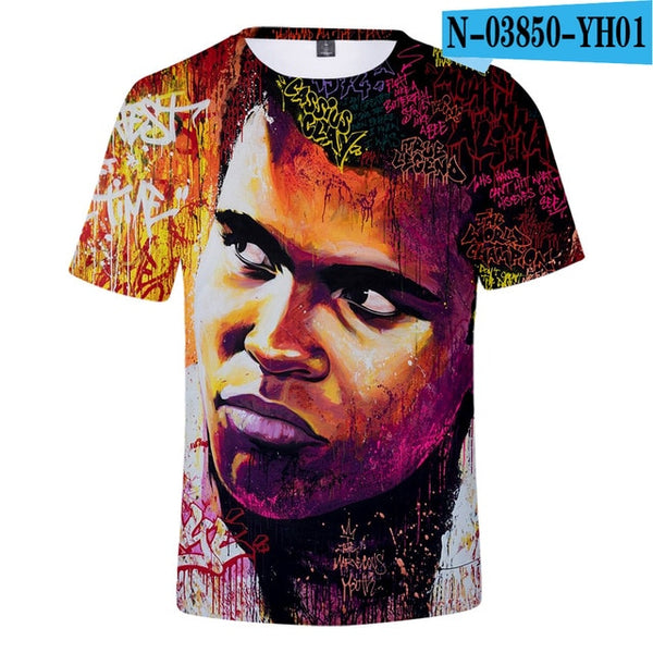 Hot new Casual Muhammad Ali t shirt Men Women Summer Short Sleeves 3D suitable Tees Muhammad Ali girls boys popular T shirt Tops
