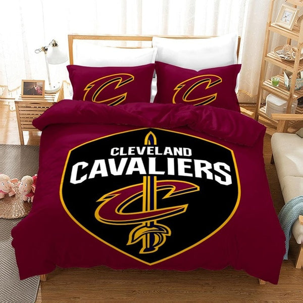 Home Textile NBA Basketball Club Bedding Set Quilt Duvet Cover Pillowcases Bed Linens Twin Full Queen King Single Double 2-3PCS