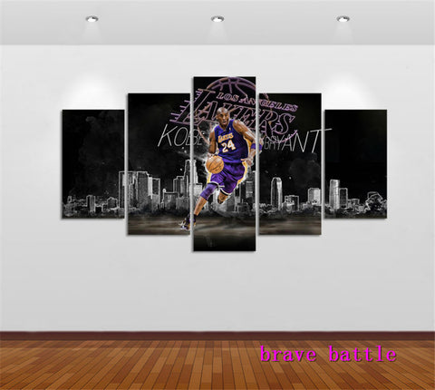 Basketball Star Kobe Bryant Home Decor HD Print Portrait Art Painting on Canvas