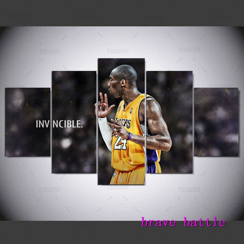Basketball Star Kobe Bryant Home Decor HD Print Portrait Art Painting on Canvas #01