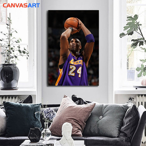 Canvas Art Pictures: One Piece Kobe Bryant A Classic Shot Wall Pictures for Living Room Canvas Painting Nordic Style Wall Art