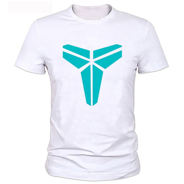 Fashion Tee Shirt Homme Summer Kobe Bryant Black Mamba T Shirt Men Short Sleeve White T-shirt Printed Fashion T Shirts