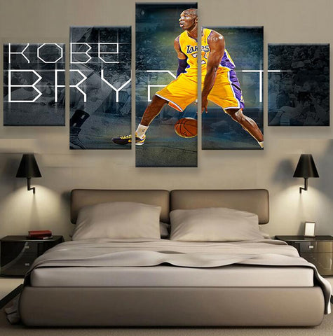 HD Print 5 pieces Kobe Bryant sport poster Painting Canvas wall art living room decor print painting on canvas art /PT1049