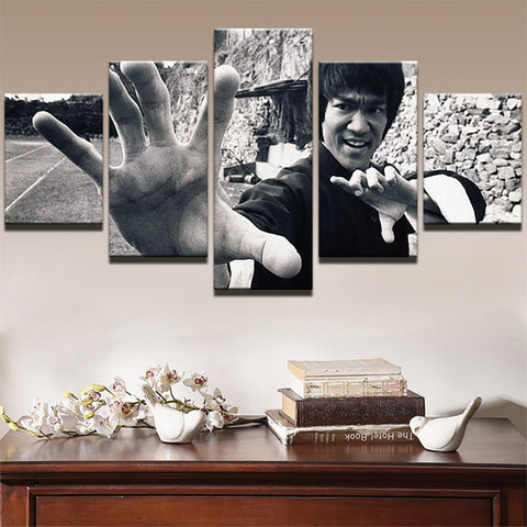 Bruce Lee Wall Mural - Hands