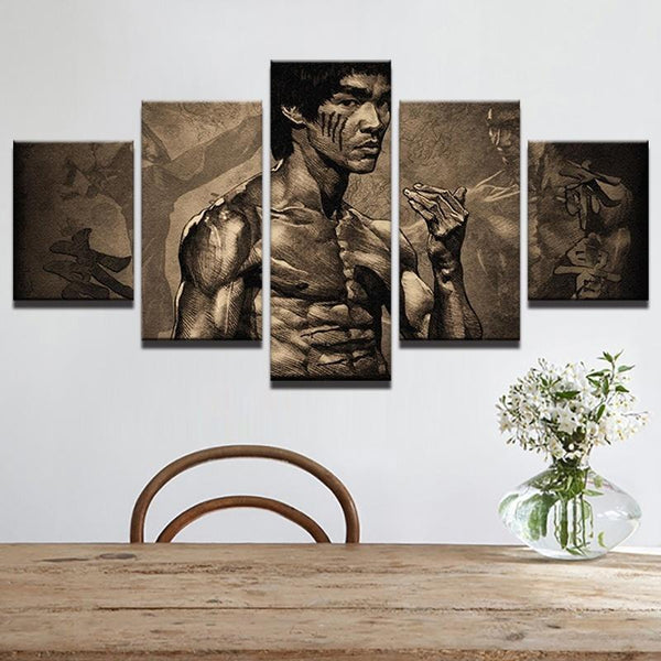 Bruce Lee Wall Mural - Scar Face