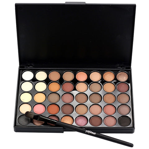 40 Color+ Brush Set Eyeshadow Pallete With Brush maquiagem