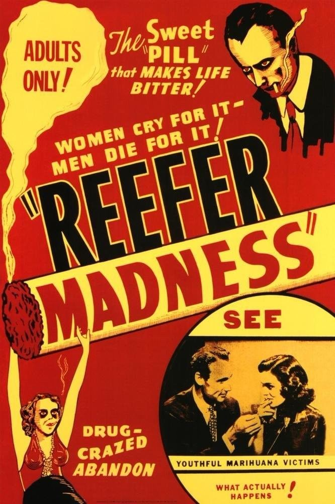 Home Decor Reefer Madness-Silk Art Poster Wall Sicker Decoration Gift