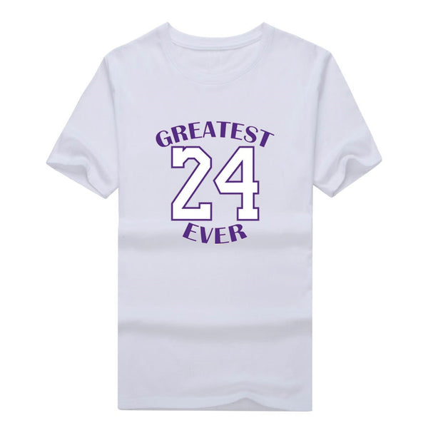 "2018 Fashion Kobe Bryant 24 ""Greatest Ever"" T-shirt Tee 100% Cotton T shirt 1125-1"