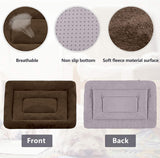 Large Dog Bed Washable Crate Pad Anti-Slip Mat 36/42/47 inch Soft Pet Beds Mattress Kennel Pads