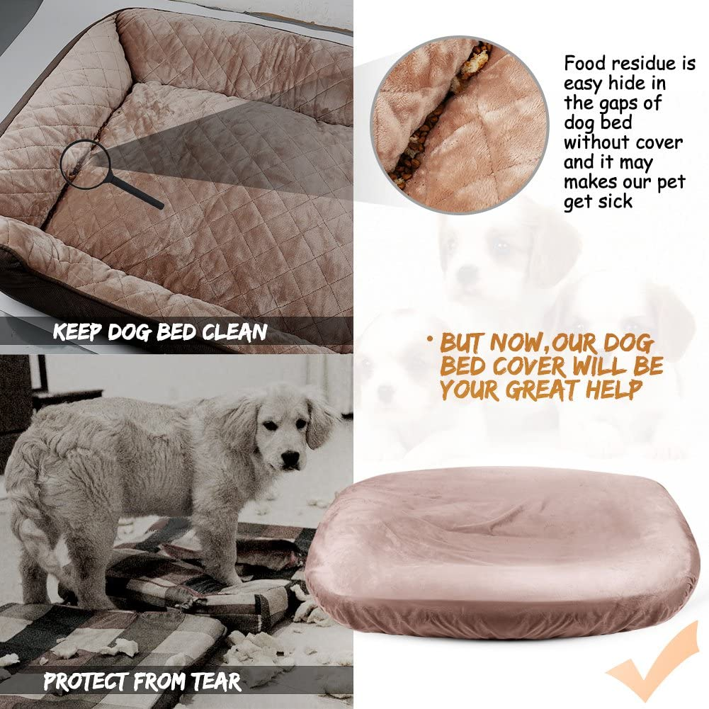 Hero Dog  Drawstring Round Dog Bed Cover Pet Bed Covers Convenient Case 100% Washable Universal to Majority Dog Beds