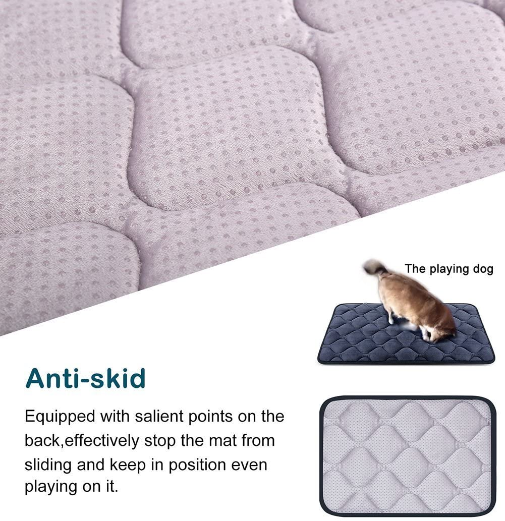 Large Dog Bed Mat Crate Pad Anti Slip Mattress Washable for Pets Sleeping