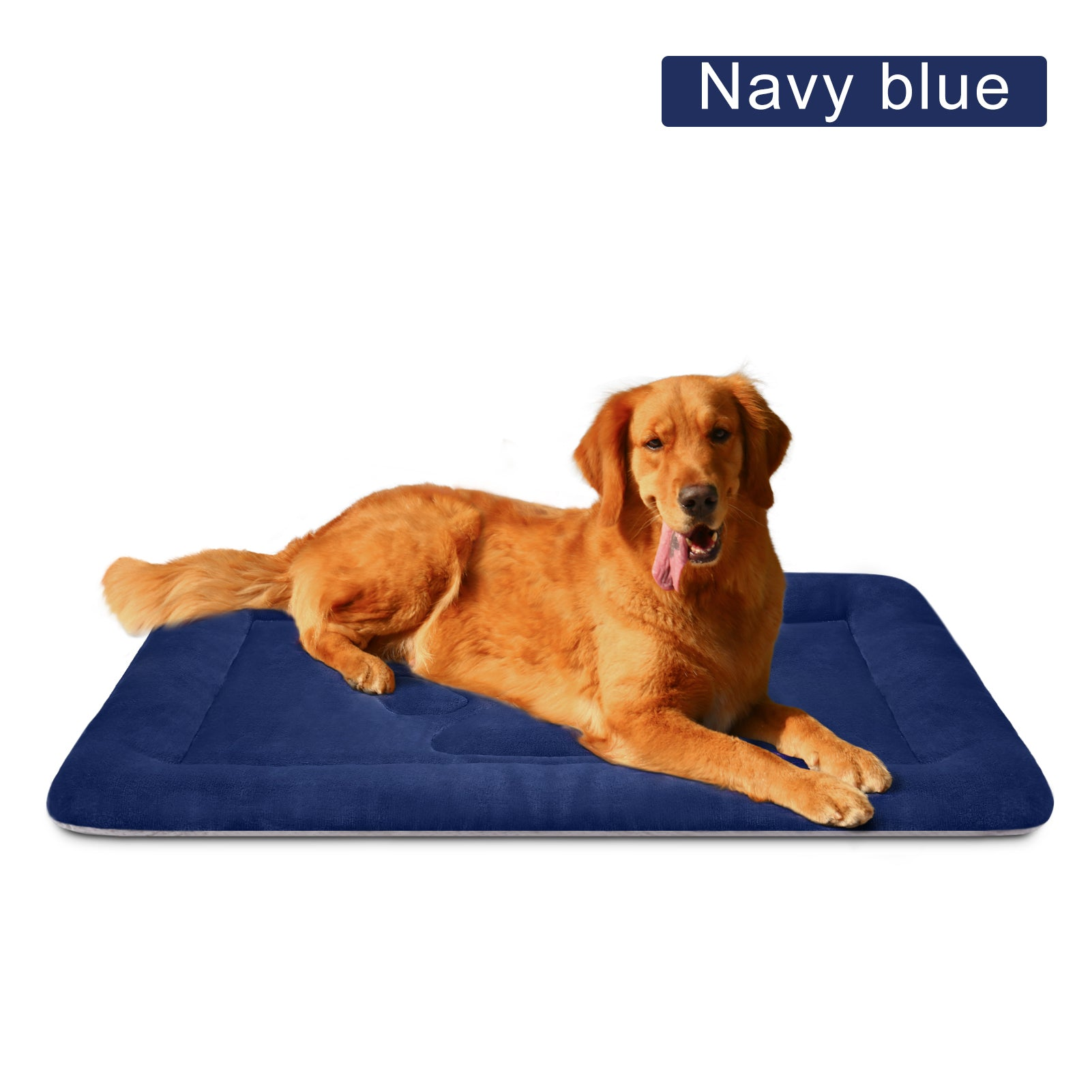 Large Dog Bed Mat Crate Pad 35/42/47 Inch Washable Pet Beds Soft Anti Slip Sleeping Mattress for Large Medium Small Dogs, Multi Color