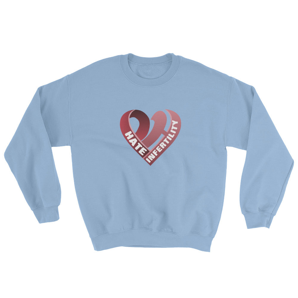Positive Hate, Hate Infertility Red Heart Middle - Unisex Sweatshirts