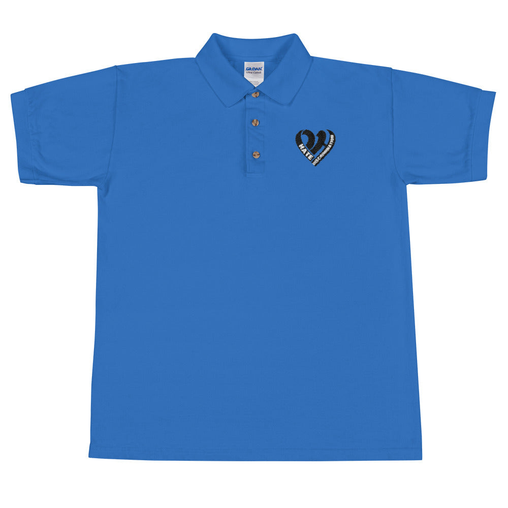 Positive Hate, Hate Discrimination Black Heart -  Polo Shirt