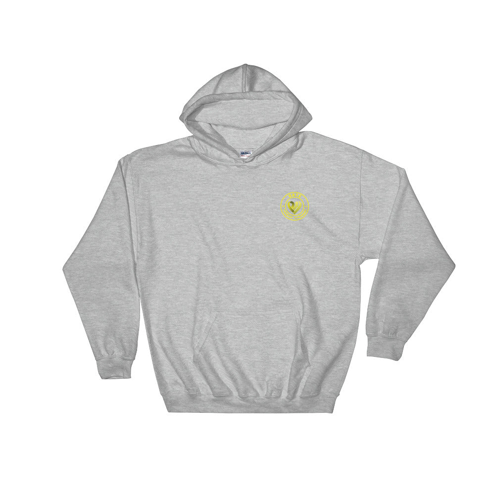 Positive Hate, Hate Turners Syndrome Yellow Round Side - Hooded Sweatshirt