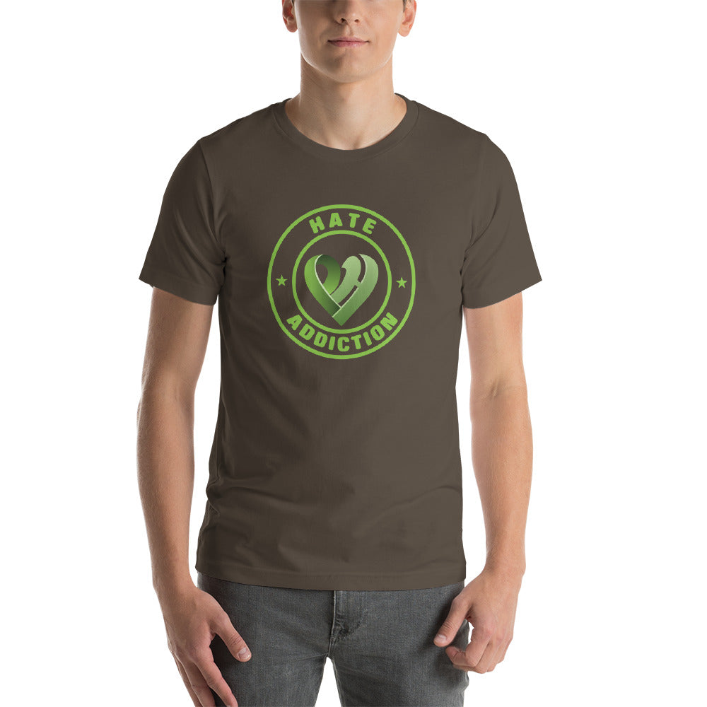 Positive Hate, Hate Addiction Green Round Middle - T-shirt
