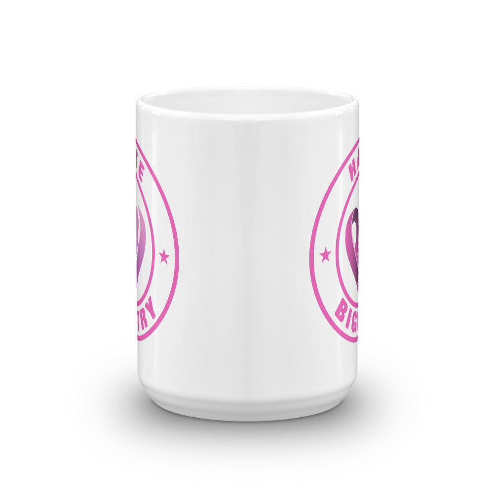 Positive Hate, Hate Bigotry Pink Round - Glossy Mugs