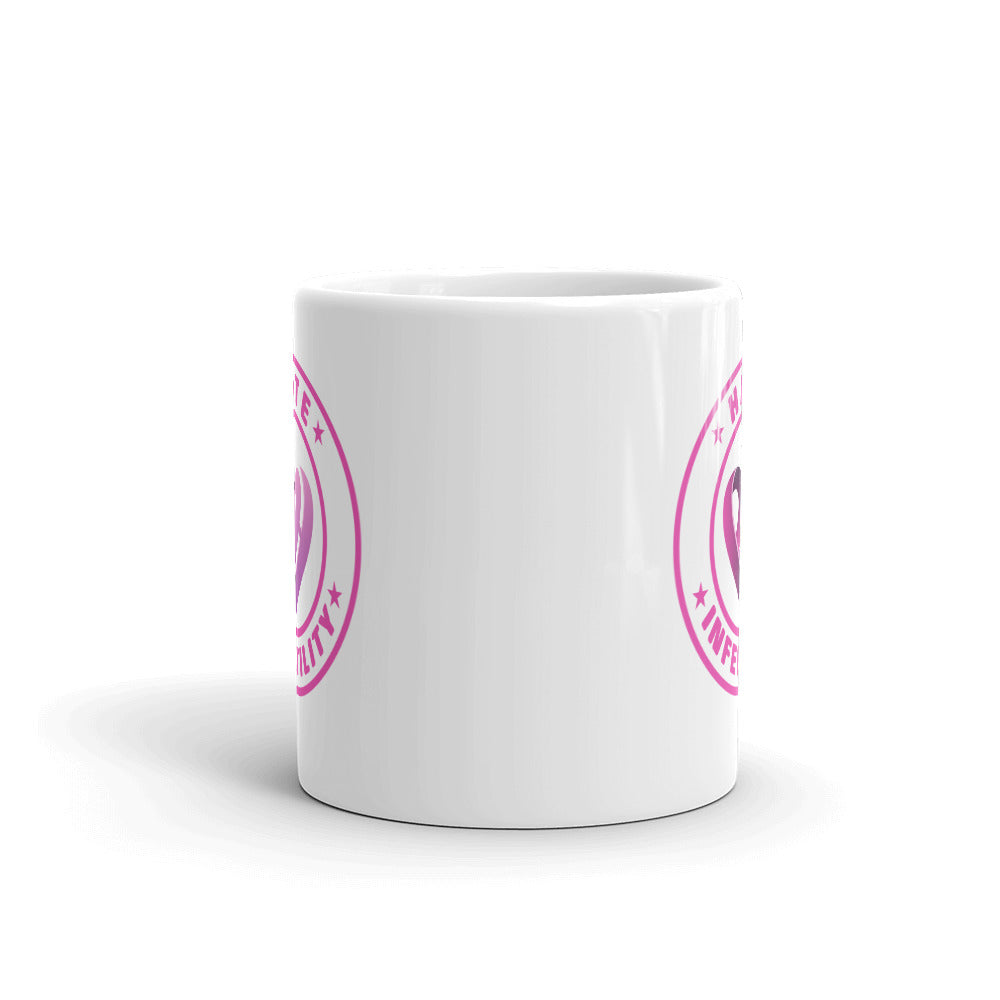 Positive Hate Infertility Pink Circle v2 - Mug