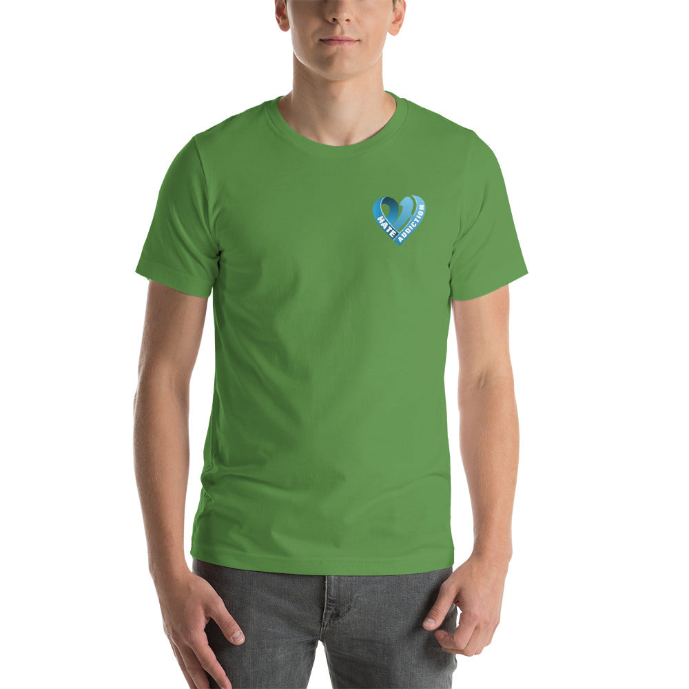 Positive Hate, Hate Addiction Blue Heart Side - T-shirt
