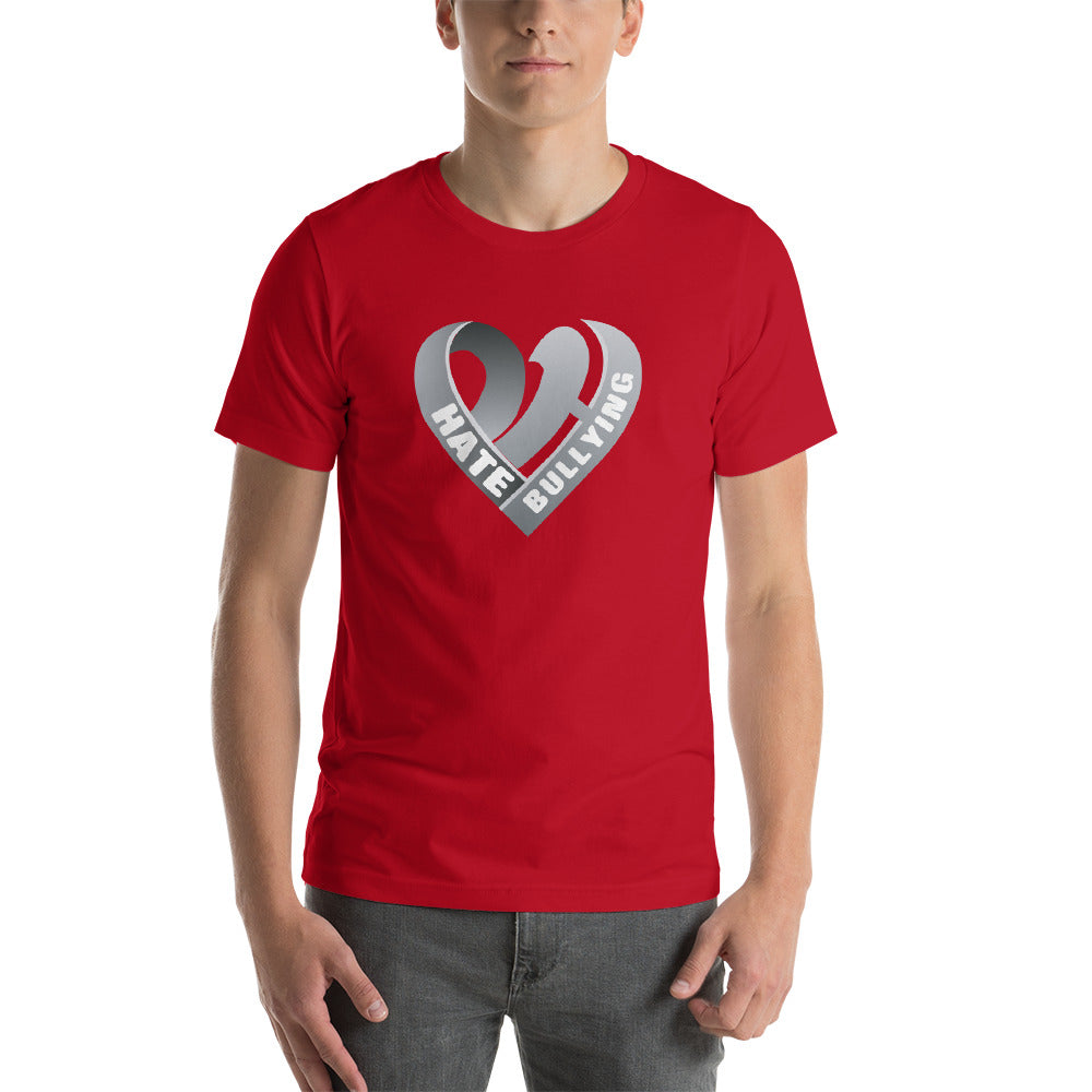 Positive Hate, Hate Bullying Grey Heart Middle - T-shirt