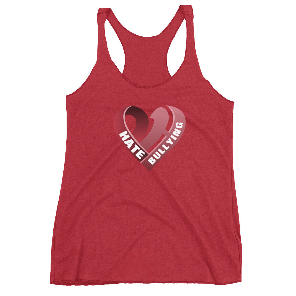 Positive Hate, Hate Bullying Red Heart Center - Women's Racerback Tank