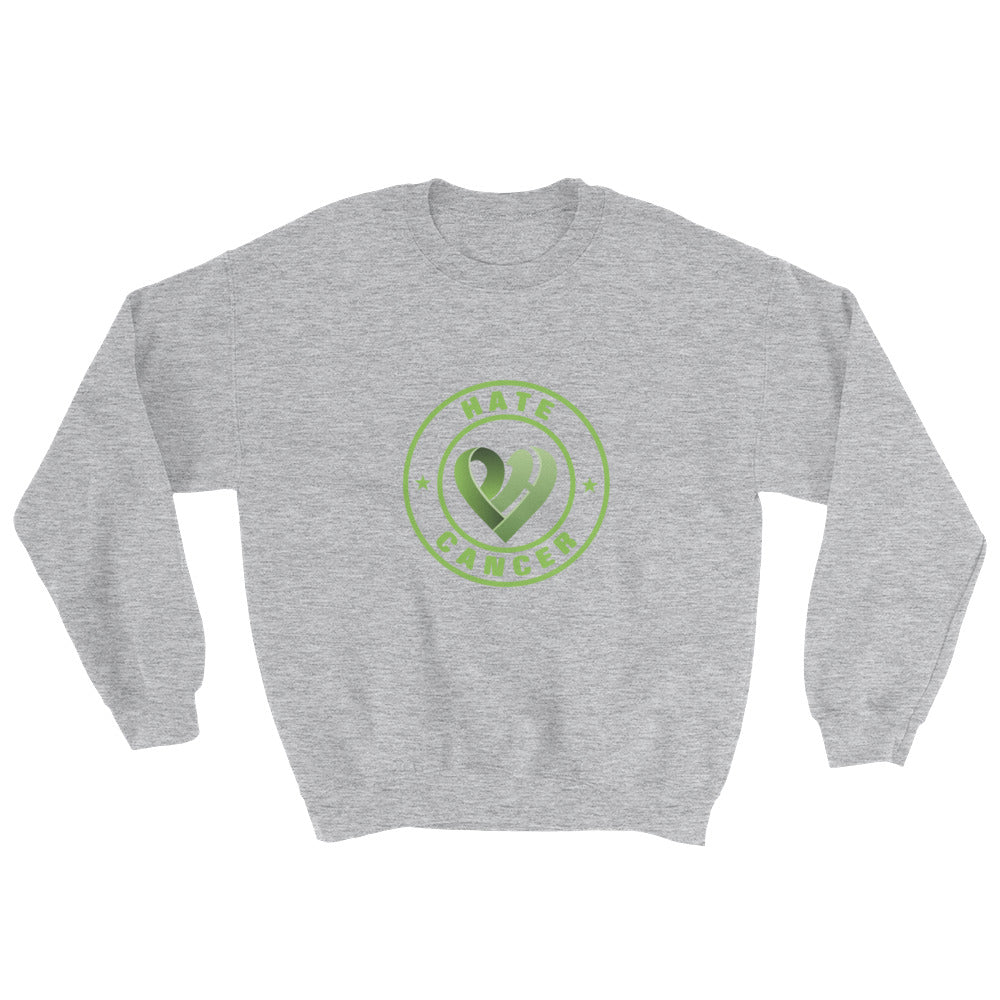 Positive Hate, Hate Cancer Green Round Middle - Unisex Sweatshirts