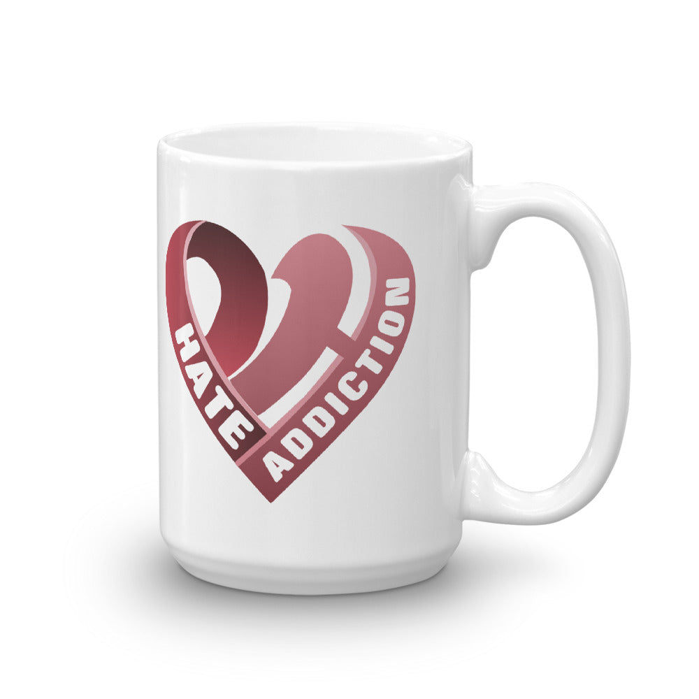 Positive Hate, Hate Addiction Red Heart - Mug