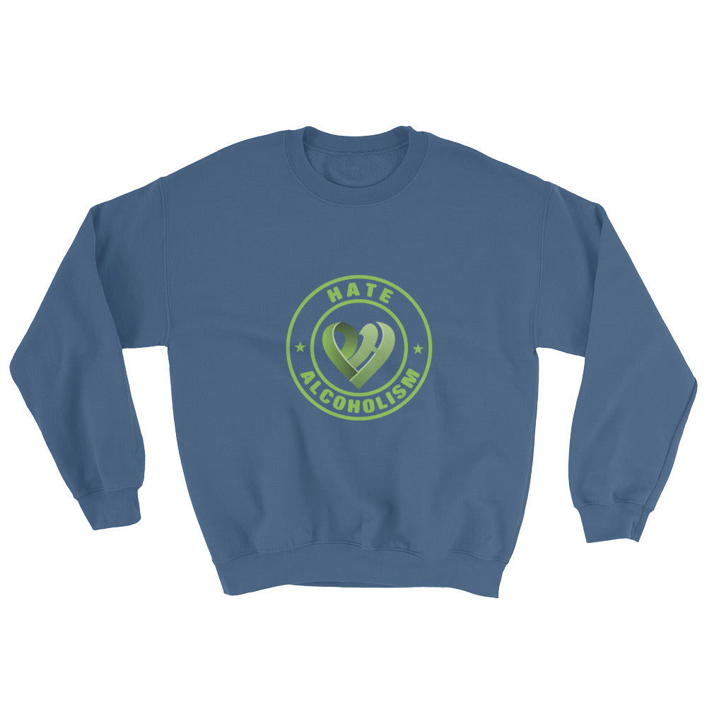 Positive Hate, Hate Addiction Green Round Middle - Unisex Sweatshirts