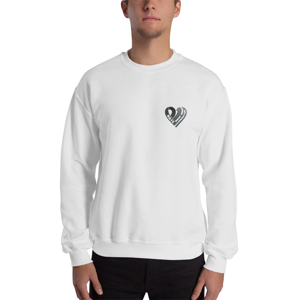 Positive Hate, Hate Discrimination Black Heart small - Unisex Sweatshirt