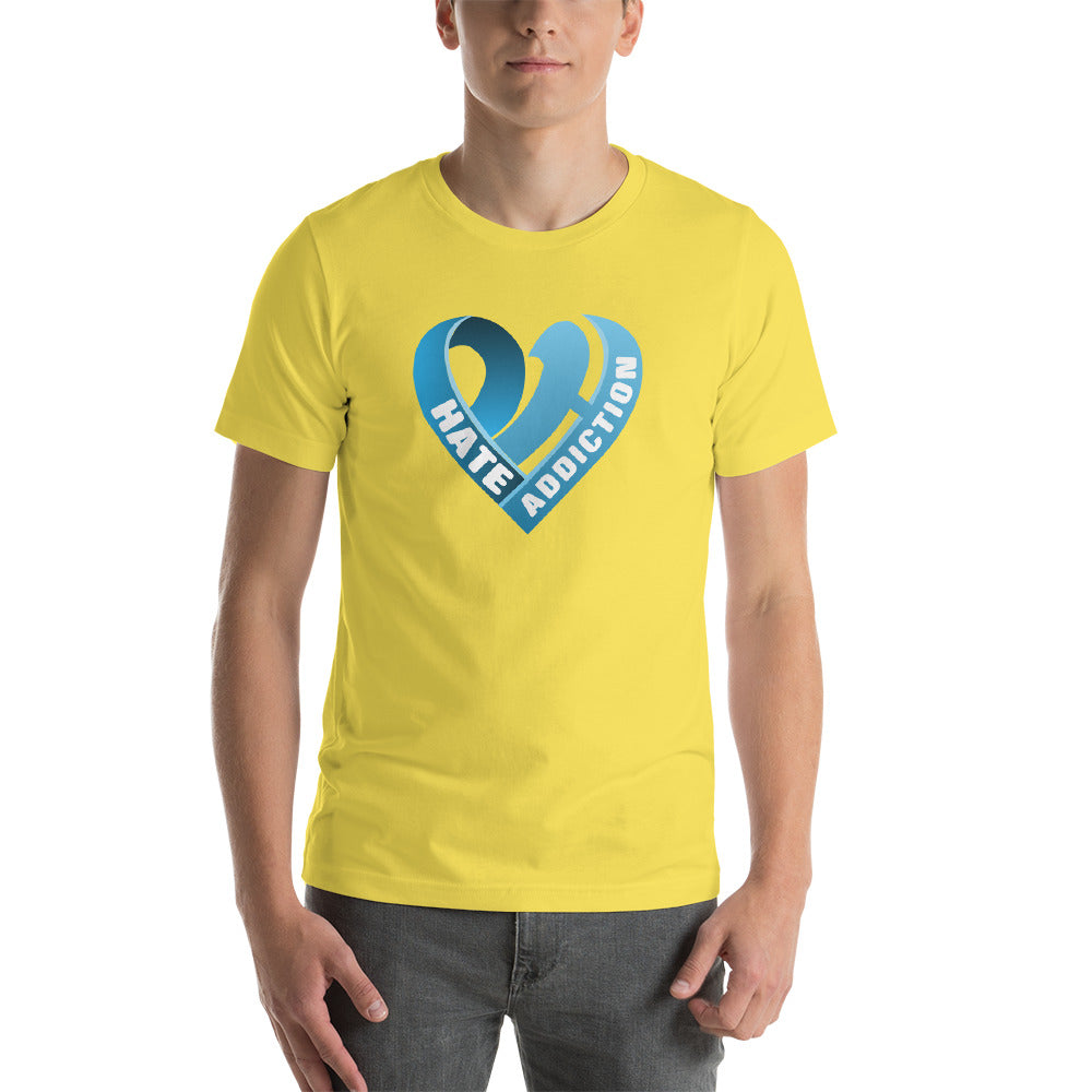 Positive Hate, Hate Addiction Blue Heart Middle - T-shirt