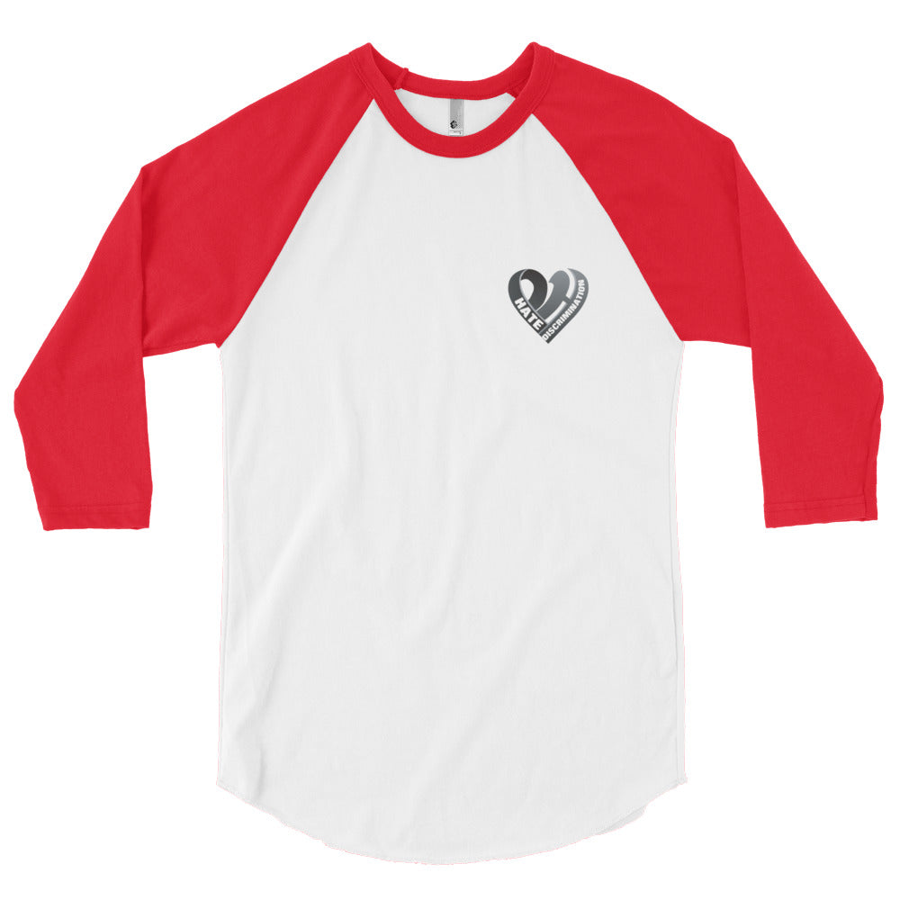 Positive Hate, Hate Discrimination Black Heart small - Raglan Shirt