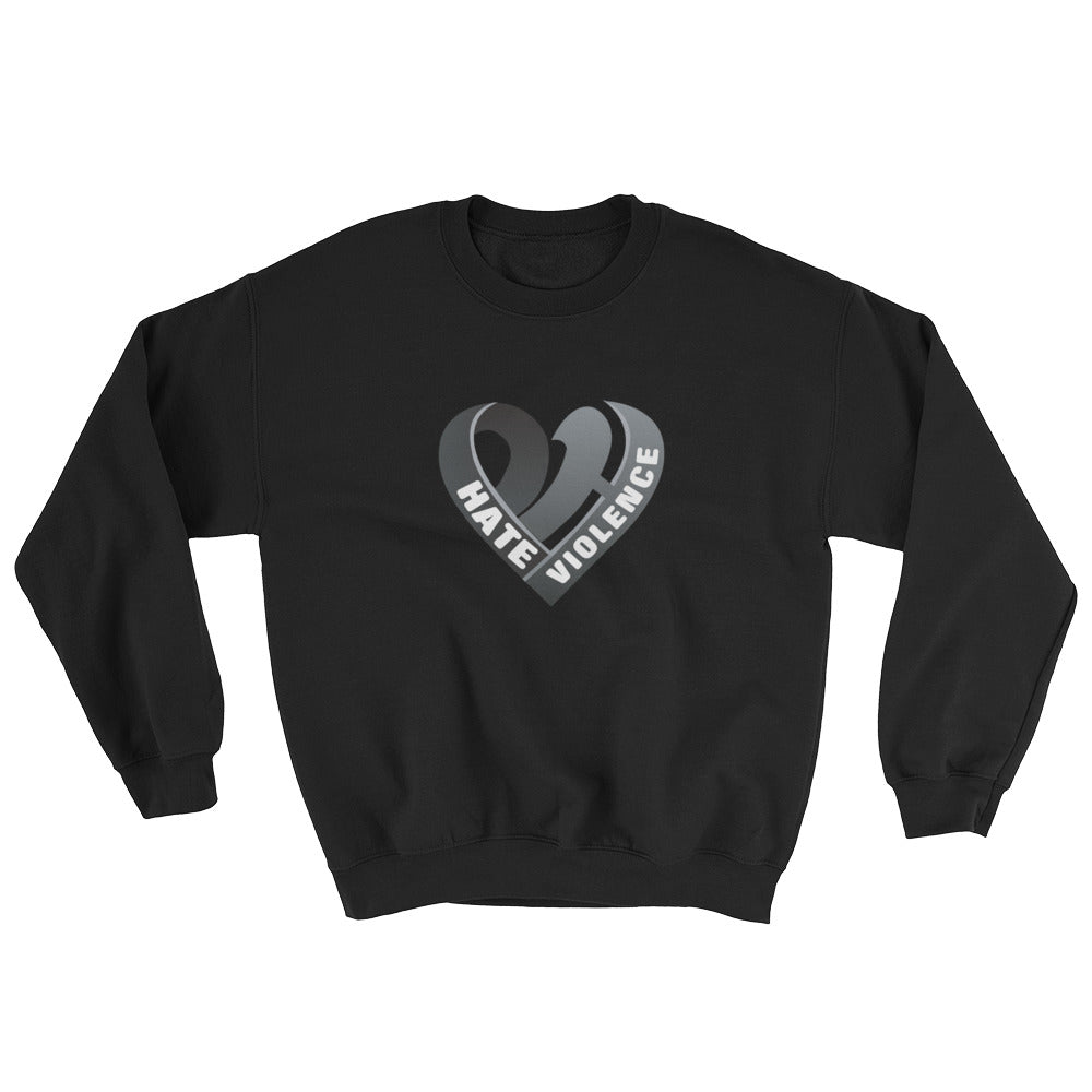 Positive Hate, Hate Violence Black Heart Middle - Unisex Sweatshirts