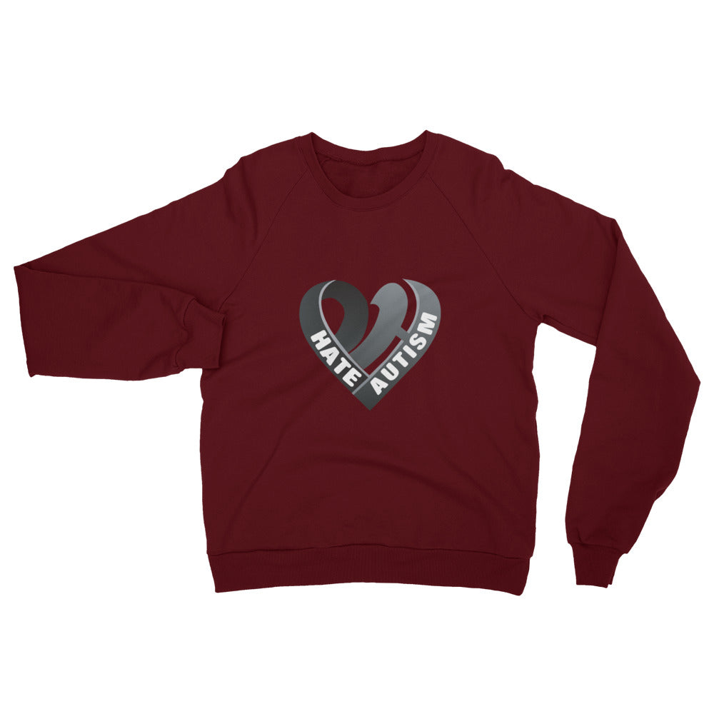Positive Hate, Hate Autism Black Heart Middle - Raglan Sweatshirts