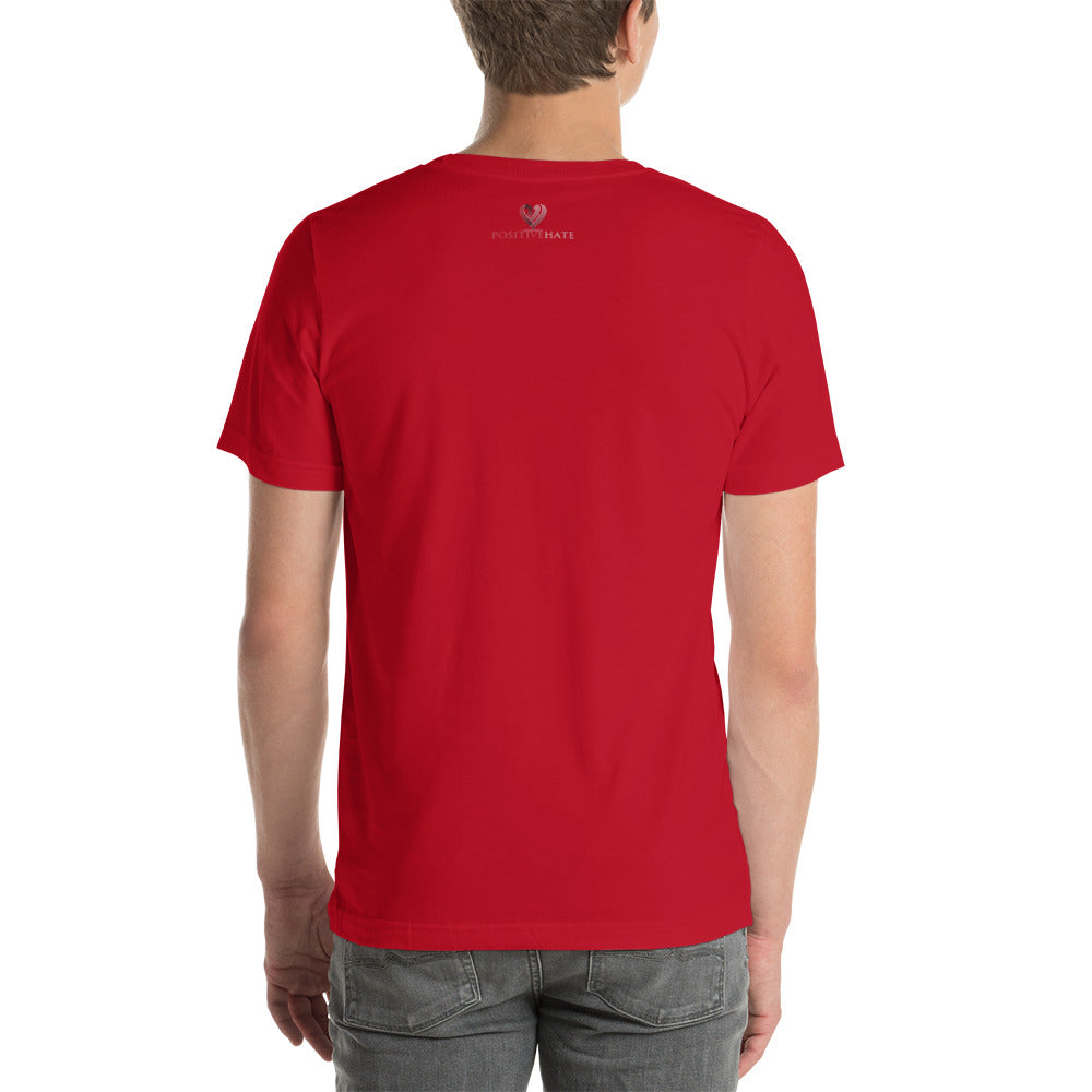 Positive Hate, Hate Infertility Red Round Middle - T-shirt