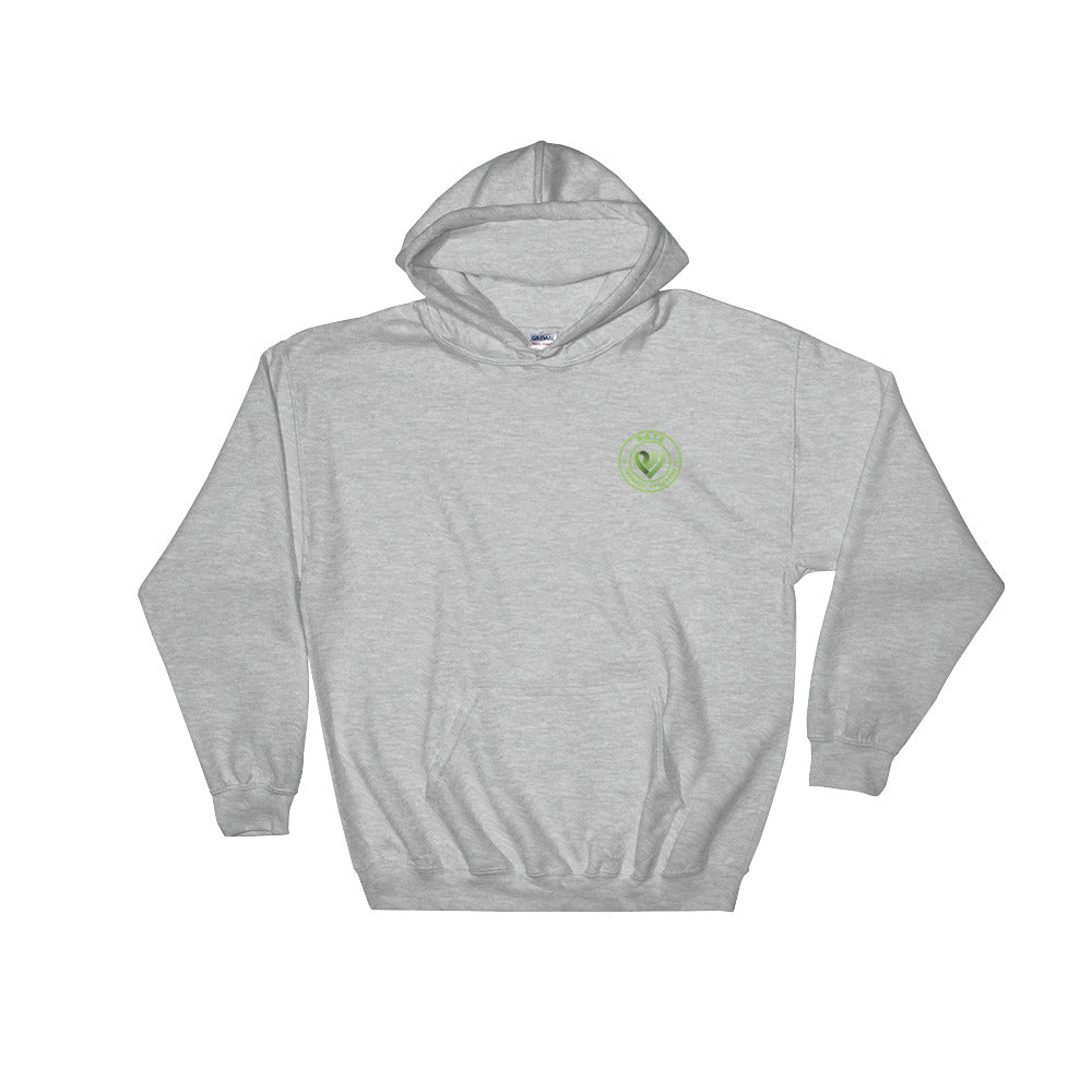 Positive Hate, Hate Turners Syndrome Green Round Side - Hooded Sweatshirt
