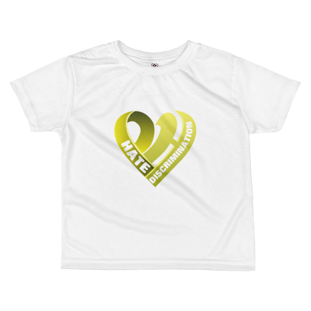 Positive Hate, Hate Discrimination Yellow Heart - Toddler Shirts
