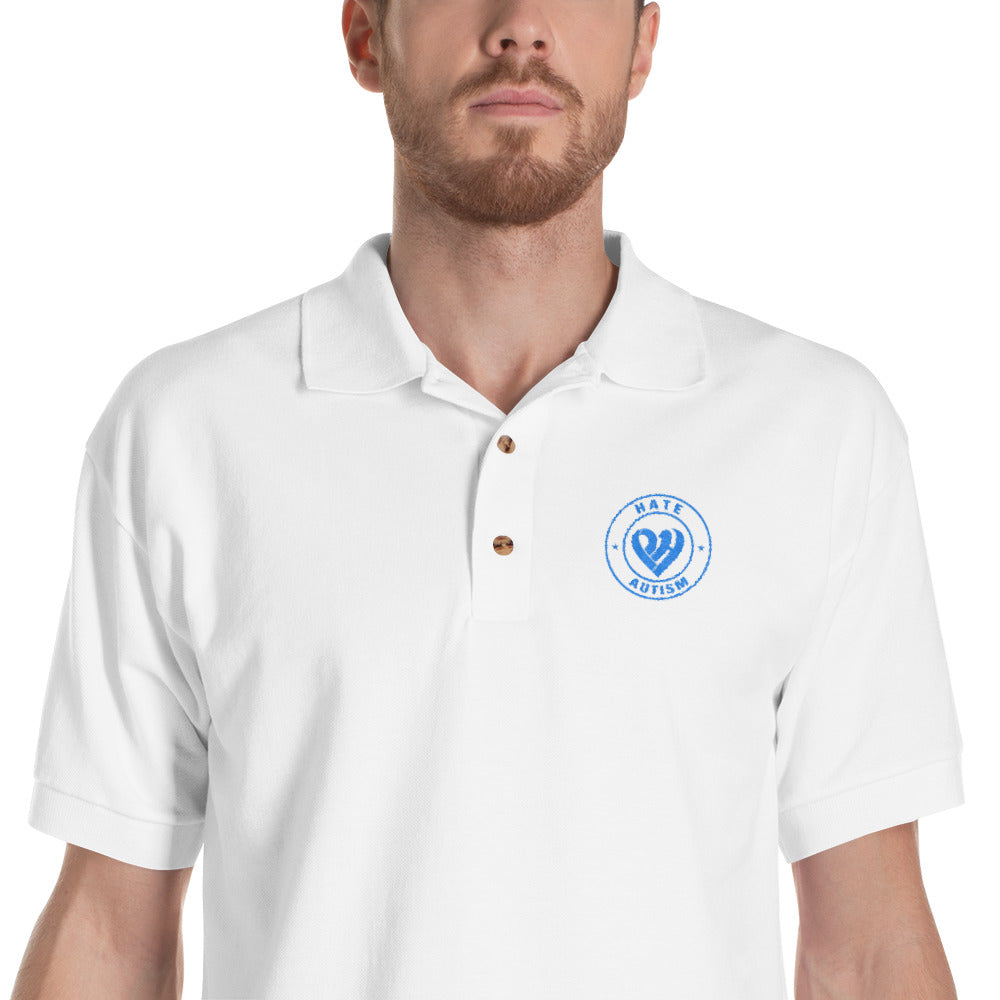 Positive Hate, Hate Autism Aqua Round  - Polo Shirts