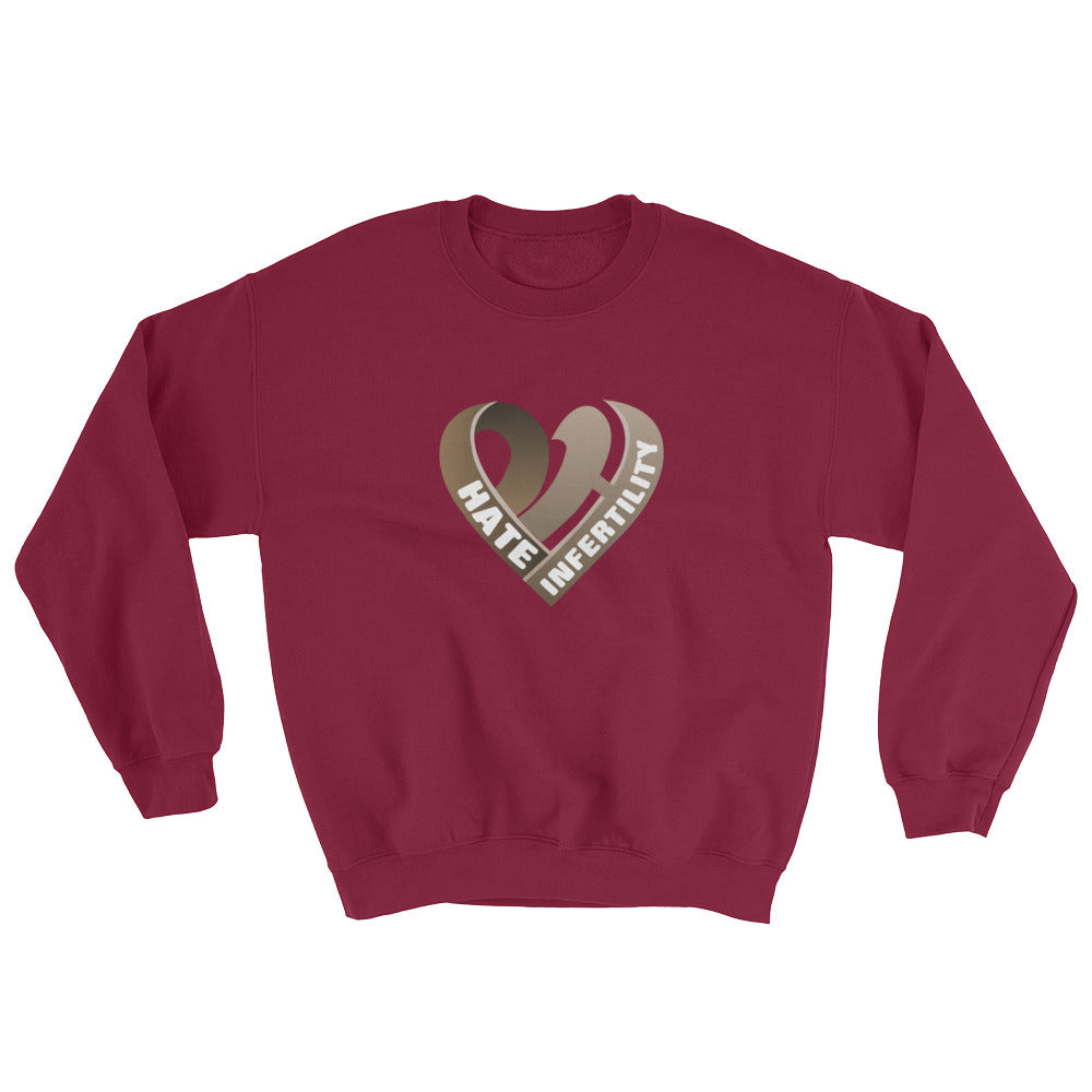 Positive Hate, Hate Infertility Brown Heart Middle - Unisex Sweatshirts