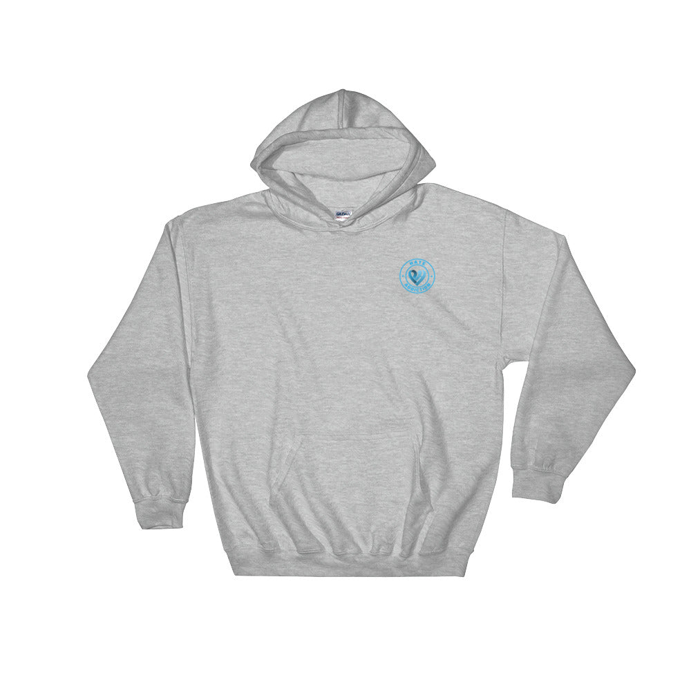Positive Hate, Hate Addiction Blue Round Side - Hooded Sweatshirt