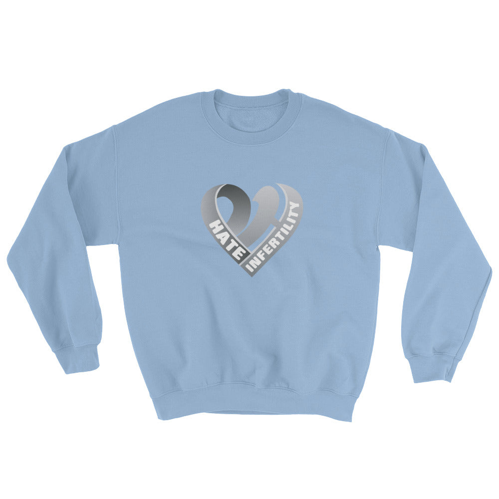 Positive Hate, Hate Infertility Grey Heart Middle - Unisex Sweatshirts