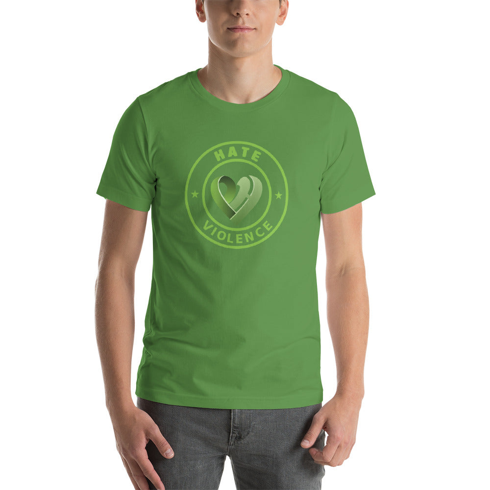 Positive Hate, Hate Violence Green Round Middle - T-shirt