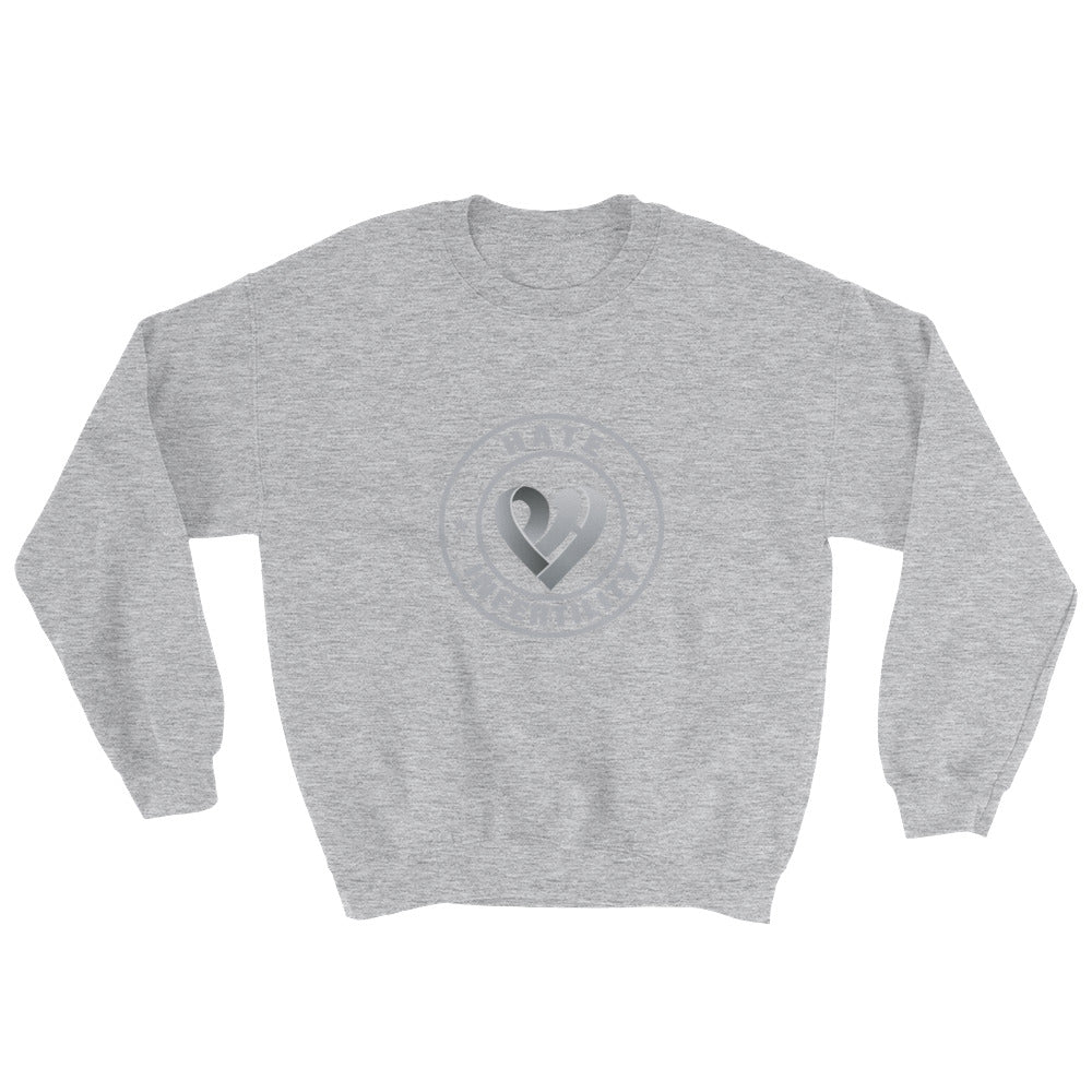Positive Hate, Hate Infertility Grey Round Middle - Unisex Sweatshirts